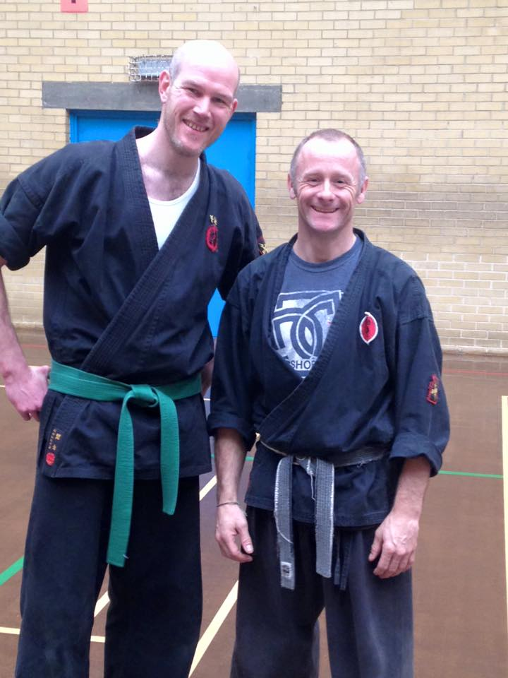 Chris at the black belt course 2015