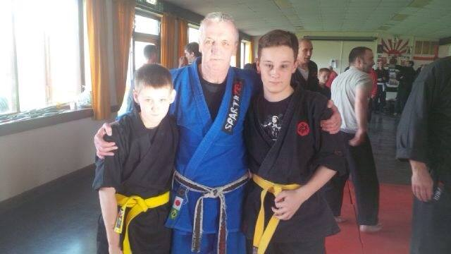 liverpool hattori with Brian McCarthy chief instructor